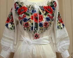 Embroidered dress, knee length dress, red dress, romantic dress ...