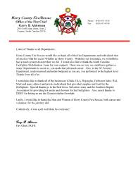 ccfr thank you letters from chief alderman horry county fire rescue