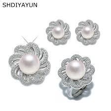 2019 <b>SHDIYAYUN</b> Fine <b>Jewelry</b> Sets Natural Freshwater <b>Pearl</b> Set ...