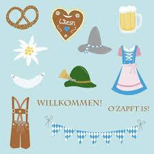Oktoberfest Clip Art Set-Oktoberfest clipart, pretzel, dirndl dress ...