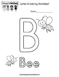Free Kindergarten Alphabet Worksheets - Learning the basics.Letter A · Letter B Coloring Worksheet