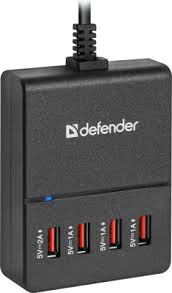 Сетевой адаптер <b>Defender UPA</b>-40 4 порта USB 83537 купить в ...