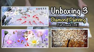 Unboxing: <b>Diamond Painting</b> - 3 <b>Full Round</b> drill - YouTube