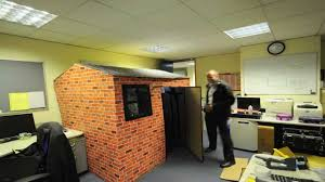 best office prank eddies cardboard office house youtube cardboard office