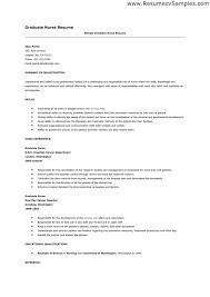 sample resume template for new graduate nurse with work experience sample new grad nursing resume