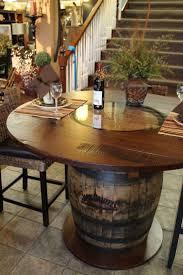 whisky barrel table beautifully handcrafted stonebarnfurnishings barrel office barrel middot