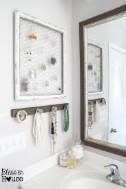 deals orange bathroom accessories: blesser house diy rustic industrial jewelry organizer cheap easy functional