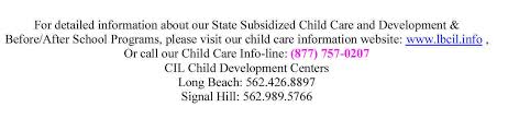 long beach community improvement league for detailed information about our state subsidized child care and development amp beforeafter school programs please visit our child care information