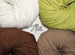 2-petli Полиэфирный <b>шнур с сердечником</b> 5 мм для вязания ...