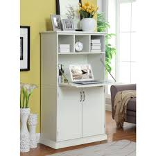 amelia storage wooden secretary desk in white amazing home depot office chairs 4 modern