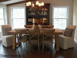 Dining Room Table Pottery Barn Table With Brown Upholstered Chairs Home Decor Ljosnet