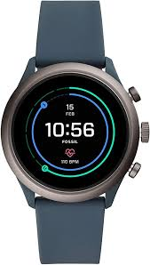 Fossil Men's Touchscreen Connected Smartwatch with <b>Silicone</b> ...