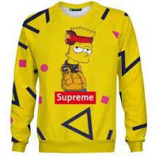 Мужской <b>свитшот</b> 3D   <b>Supreme</b> Барт (2)
