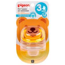 <b>Пустышка</b> силиконовая анатомическая Pigeon <b>Bear 3</b>+ (1 шт)