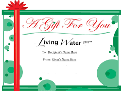 gift certificates living water ph holiday gift gift certificate 50 value