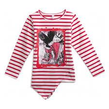 <b>Туника PLAYTODAY</b> 194074 для девочек, цвет красный/белый ...
