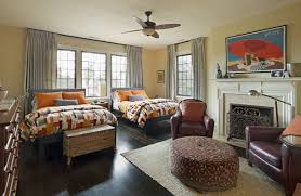 big master bedrooms couch bedroom fireplace: using bright colors greatly revives the space and makes it special especially if combine shades