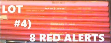 COLOR PENCILS LOT#4: 8 RED ALERT! <b>CRAYOLA ROSE</b> ART ...
