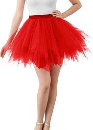Adult <b>Women</b> 80's <b>Tutu</b> Skirt Layered <b>Tulle</b> Petticoat <b>Halloween Tutu</b> ...