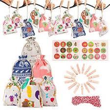FunPa <b>Christmas</b> Advent Calendar Set Creative DIY <b>Drawstring Gift</b> ...