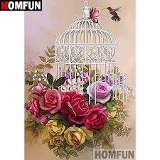 "<b>HOMFUN 5D DIY Diamond</b> Painting Full Square/Round Drill ""Bird ..."