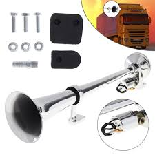 17 Inch <b>12V</b> / <b>24V 150dB</b> Super Loud Single Trumpet Air Operated ...