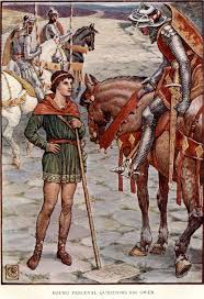 best ideas about king arthur s knights king young perceval questions sir owen by walter crane artist from king arthur s
