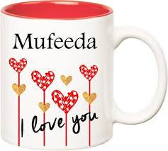 Huppme I Love You Mufeeda Inner Red (350 ml) Ceramic Mug(350 ...