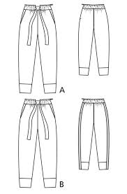 Tie waist trousers, Pattern, Sewing patterns