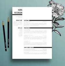floral cv template creative floral border and bullets