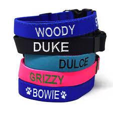 <b>Personalized</b> Embroidered <b>Dog Collar</b> | 100% Lifetime Guarantee