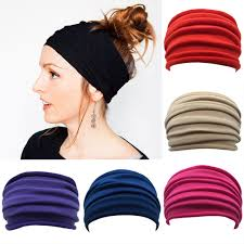 <b>Women</b> Wide Sports Yoga Nonslip Headband New <b>Stretch Boho</b> ...