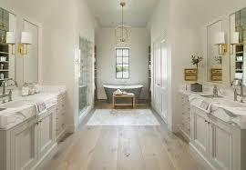 washstand bathroom pine: pale gray washstands facing each other across from pine wood floors