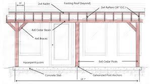 covered patio building plans medium size