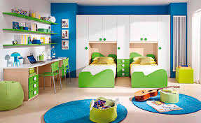 fantastic kids boy bedroom decorating ideas with space saving furniture arrangement of white and green plywood breathtaking image boys bedroom