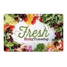 $25 Ruby Tuesday Gift Card, 2 pk. - BJs WholeSale Club