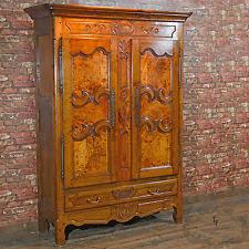 antique french armoire linen press cupboard cabinet wardrobe oak mid antique english mahogany armoire furniture