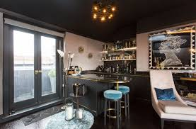 outstanding mini bar apartment with black marble top bar counter feat black wooden bar stools and black mini bar
