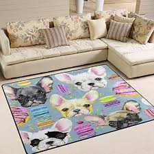 ALAZA Watercolor <b>Chihuahua</b> Dog <b>Donuts</b> Area Rug Rugs Living ...