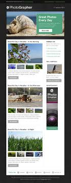 best email newsletter templates html psd photographer email newsletter template