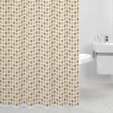 <b>Штора для ванной Milardo</b> Mosaic текстиль 180х200 см бежево ...