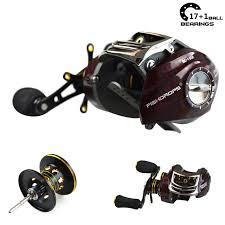 Shishamo 17+<b>1BB 6.3:1</b> low profile reel bait casting Feeder Fishing ...