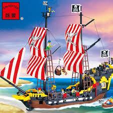 Pogo Lepin <b>870Pcs</b> Enlighten Pirates Series <b>Black Pearl</b> ...