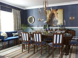 Two Toned Dining Room Sets Blue Dining Room Set Simple And Rustic Round Teak Wood Dining