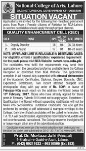 college of arts lahore new jobs  national college of arts lahore new jobs 2017