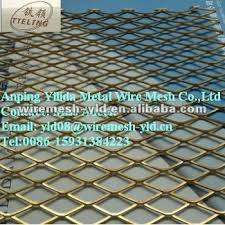 brass expanded metal mesh sheet for furniture brass and metal furniture