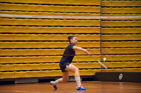 photo gallery sas badminton girls championship the eye angela ma during her game against tas photo by ariel so