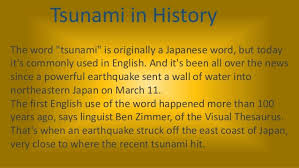 "「English ""Tsunami"" first used」の画像検索結果"