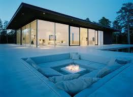 stone floor seating lake