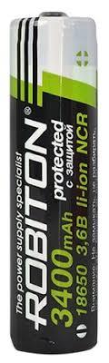 <b>Аккумулятор</b> Li-Ion 3400 мА·ч <b>ROBITON 18650</b>-3400 защищенный ...
